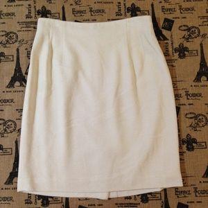 Emanuel Ungaro Cream Classic Pencil Skirt Size 14
